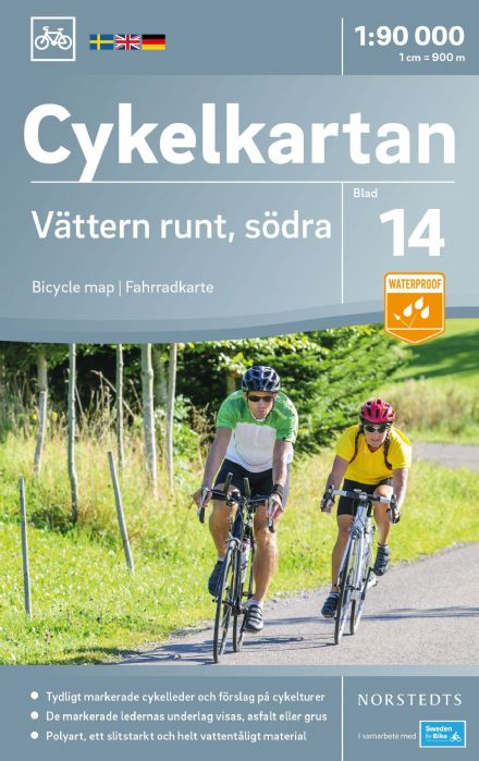 Sweden Cycling Map 14 - Vätter lake South